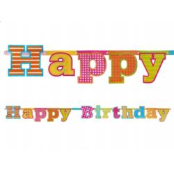 Baner Happy Birthday, 16 x 166cm, 1szt.
