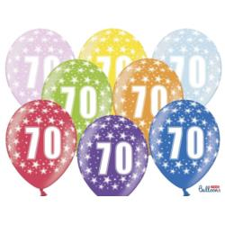 Balony 30cm, 70th Birthday, Metallic Mix , 6szt.