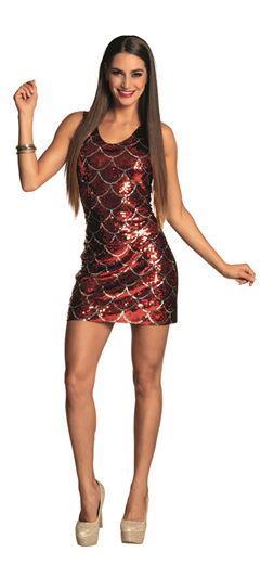 fb2d093858e3dc Ad Strój Sukienka Disco 87155 M/L Cekiny Czerwona