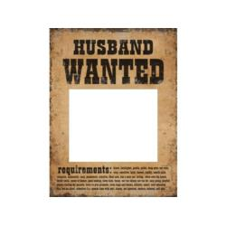 Tabliczki Husband Wanted i Wife Wanted,  40op.