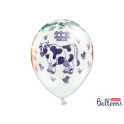 Balony 30cm, Farma, Pastel Pure White, 6 szt.