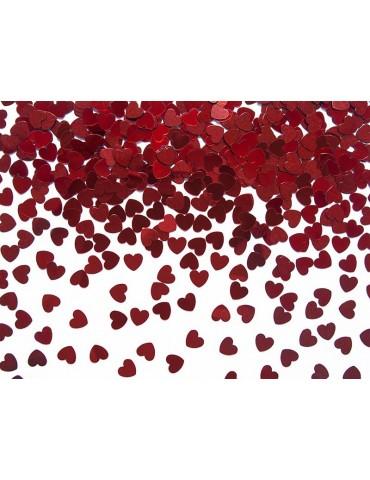 Konfetti Serca, czerwony, 5mm, 30g, 1op.