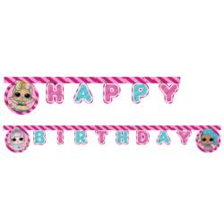 Baner Happy Birthday LOL Glitterati - 21 0 cm - 1 szt.