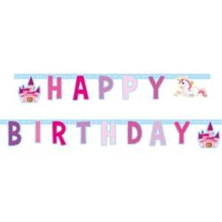Baner Happy Birthday Jednorożec 85676 185CM - 1 szt. BZ